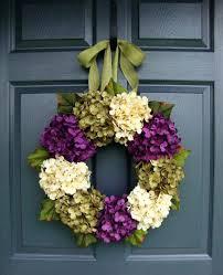 X Summer Outdoor Wreaths Spring Front Door Hydrangea  Wreath Fall
