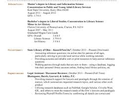 Resume For Review Library Hiring Librarians Librarian Sample
