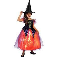 Purple Orange Witch Girls Dress Halloween Costume