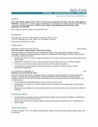 Great Marketing Resume Examples Email Resume Sample Beautiful 24 Marketing Resume Samples Hiring 18