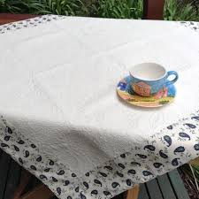 quilted tablecloth with contrasting border