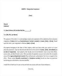 Accepting Resignation Letter Retirement Resignation Acceptance