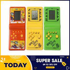 Máy chơi game cầm tay -Máy trò chơi điện tử xếp hình, xếp gạch cầm tay -  Tay cầm chơi game xếp gạch Tetris truyền thống, máy chơi game 8x 9x (màu