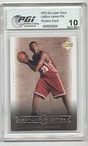 Aaron walks you through the last two to three weeks of the lebron james investment market, which cards you should be cautious about. Amazon Com 2003 Upper Deck Lebron James Pgi 10 Lakers Rookie Card 14 Collectibles Fine Art