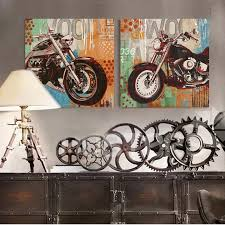 motorcycle wall art canvas