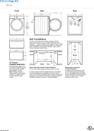 Front Load Washer Dimensions Page 3 Of Frigidaire Washer Fafs4474la User Guide Manualsonlinecom
