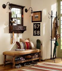 pottery barn entryway furniture. Caden Leather Bench From Pottery Barn View In Gallery Used For Extra Shoe Storage Entryway Furniture