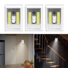 3 PACK COB LED Wall Switch Wireless Battery Operated Closet Cordless Night  Light