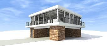 2 bedroom 930 sq ft modern plan with master bathroom