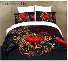 full image for black double duvet cover black and red single duvet covers 3d black red