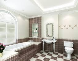 modern bathroom interior design bathtub by window 3d house
