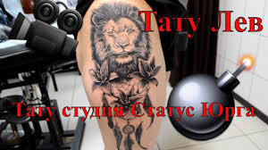 тату лев с ловцом снов лев Tattoo