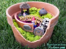 garden crafts. DIY Flower Pot Fairy Garden Craft Crafts F