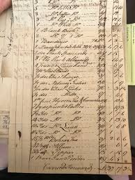 Invoice Papers Business Invoice From The Cameron Papers 1774 Food And