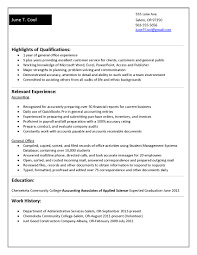 College Student Resume Examples Little Experience Cover Letter
