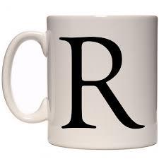 Quote Mugs Custom R Alphabet Mug 48 Ceramics
