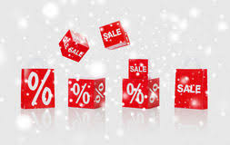 Set Christmas Sale Signs Stock Images 4 Photos