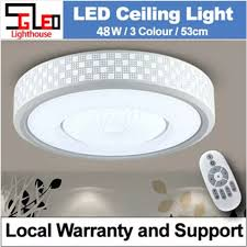 round led ceiling light with remote
