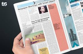 Free Download News Magazine Pages Psd Mockup Free Psd Mockup