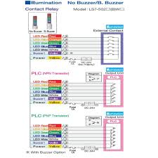 smooth body stack light 70mm signal light tower andon signal light patlite lce wiring diagram at Patlite Wiring Diagram
