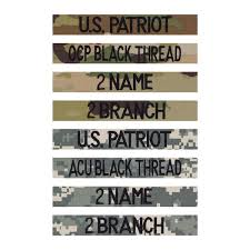 Army Ocp Size Chart Female Army 2 Name And 2 Branch Tape Set