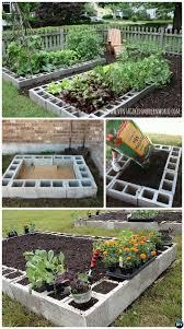 #DIY Cinder Block Raised Garden Bed-20 DIY Raised Garden Bed Ideas  Instructions.