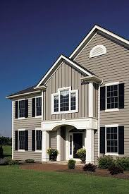 exterior house siding options. siding colors. similar to what we will do. taupe gray with white trim · exterior windowsexterior house options p