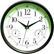 wall clock and eter outdoor clocks eters garden large thermometer sets