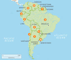map of south america south america countries  rough guides