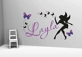 on stars vinyl wall art with beautiful girlie butterfly fairy stars vinyl wall art custom name