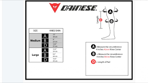 Dainese Trail Skins Knee Guard Size Chart Forums Mtbr Com