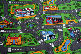 childrens kids bedroom carpet 3mt x save waste car play town useful children s road rug