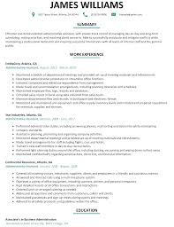 Sample Resume Executive Assistant Resume For Study