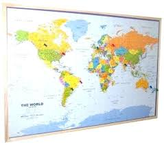 Pins For Maps Magnetic World Maps Efeservicios Co