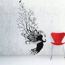 Small Picture Abstract Tree Hair Wall Decal From Trendy Wall Designs