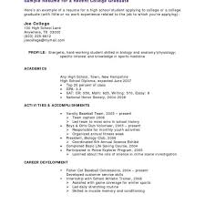 Student Resume Templates No Work Experience Sample College Student