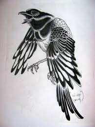 Tribal Crow Tattoo Designs Abeoncliparts Cliparts Vectors For