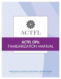 Opic Organizational Chart Actfl Opic Familiarization Manual