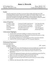 Production Supervisor Resume Sample Nmdnconference Example Inspiration Production Supervisor Resume