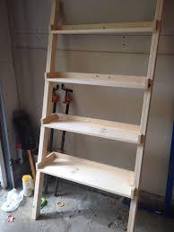 image ladder bookshelf design simple furniture. Simple Ladder Bookshelves With Oak Wood Material Image Bookshelf Design Furniture O