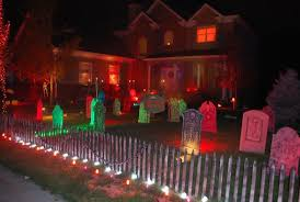 halloween lighting ideas. view in gallery colorful halloween graveyard lighting ideas
