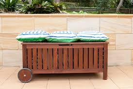 Outdoor Storage Ikea Regarding Bench With Cushion Ideas Patio