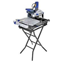 wet tile saw lowes. kobalt 7-in slide tile saw with stand wet lowes