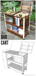 diy wood bar. A Wooden Bar Cart With Storage Galore Diy Wood