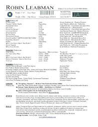 Acting Resume Examples For Beginners Resumes For Acting Acting ...