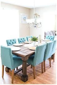 blue dining table round farmhouse room stylish stunning farm intended for blue dining room table