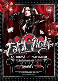 Fetish Party Flyer Template Club Flyers Posters Design For Photoshop