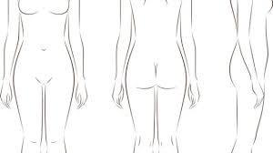 female body outline template outline drawing of human body human body anatomy outline printable