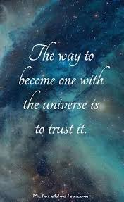 Universe Quotes Delectable The Way To Become One With The Universe Is To Trust It