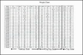 Toy Poodle Weight Chart Weight Chart Standard Poodle Bedowntowndaytona Com